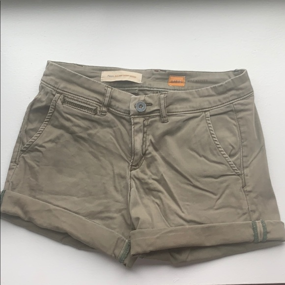 Anthropologie Pants - Army green size 25 Anthropologie shorts.